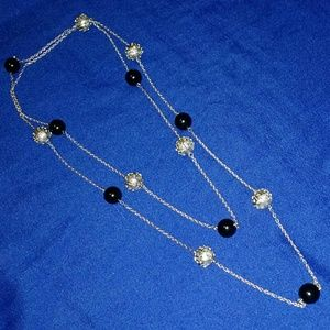 Jewelry - Black & Silver Abstract Spherical Bead Necklace
